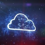 Cloud System Technology Concept on a cyber background.